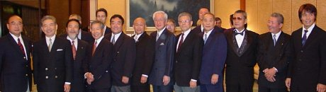 Shihankai Founding Members at the Residence of His Excellency Ryozo Kato in Washington D.C, 2002